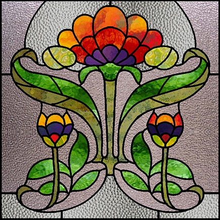Stained glass poppy pattern websites and posts on stained glass