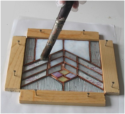 How To Solder Stained Glass.Stained Glass Soldering Techniques